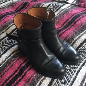 Madewell Black Leather Moto Boot